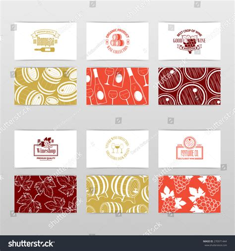 wine business cards templates set wine business cards templates wine stock vector