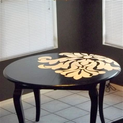 Dining Table Painting Ideas Designed To The Nines Dining Table From Dull To Dramatic