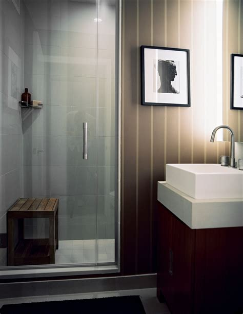 striped bathrooms striped walls modern bathrooms lonny