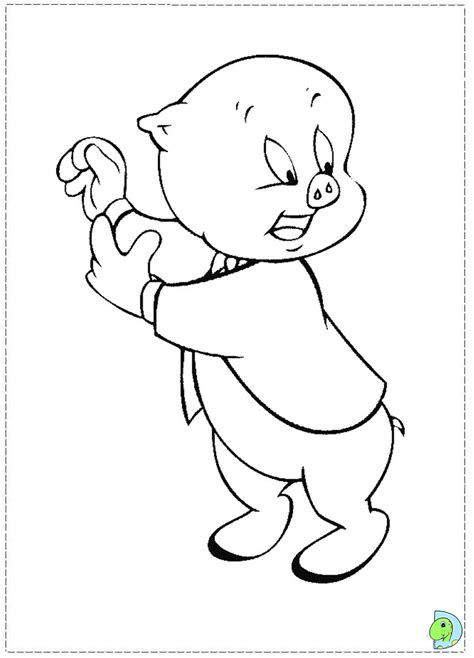 Porky Pig Coloring Page Dinokids Org Porky Pig Coloring Pages