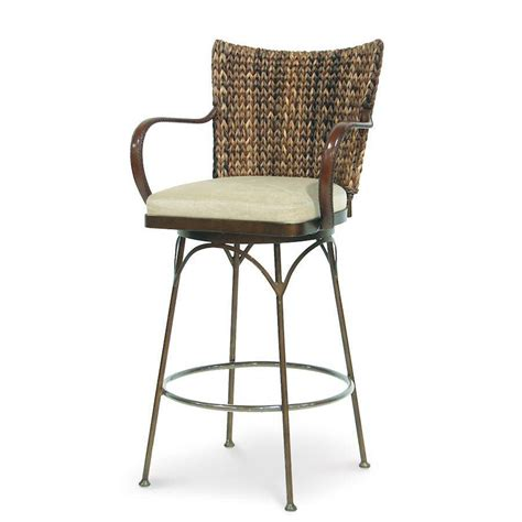 wicker top bar stools palecek havana metal bar stool 30 quot 7869 rattan wicker