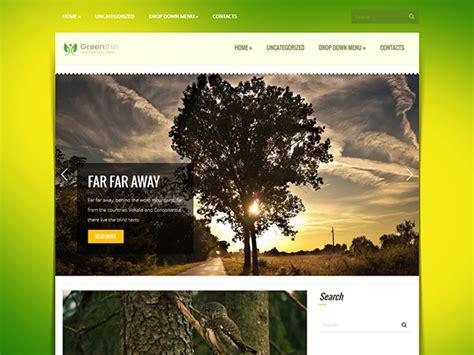 themes wordpress nature greenthin free wordpress theme