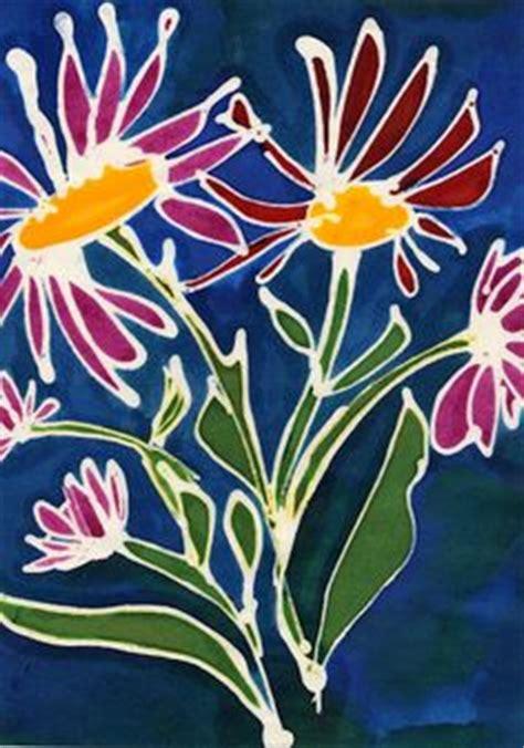 simple batik design flower elementary art batik and cloisonne on pinterest
