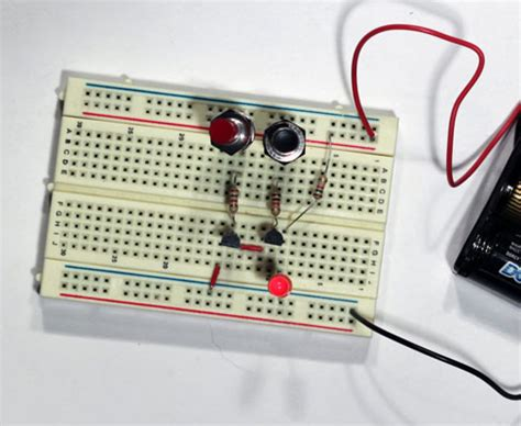 and gate transistor breadboard electronics projects how to create a transistor nand gate circuit dummies