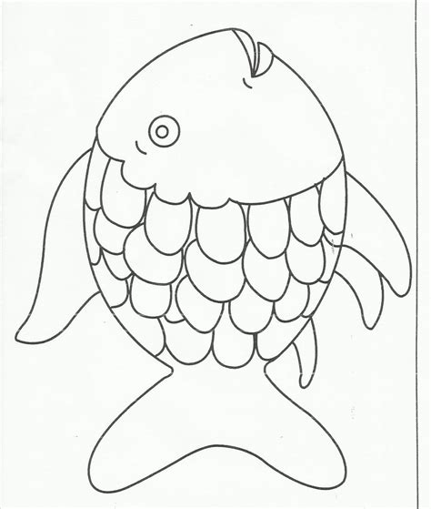 fish coloring pages for kindergarten rainbow fish coloring page free large images