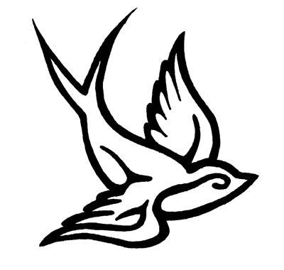 tribal swallow tattoo tribal bird tattoos popular designs