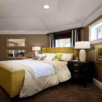 caddy corner bed taupe paint color transitional bedroom benjamin