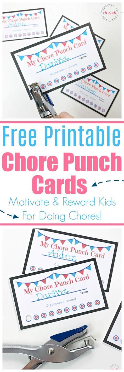 printable chore cards ideas  pinterest