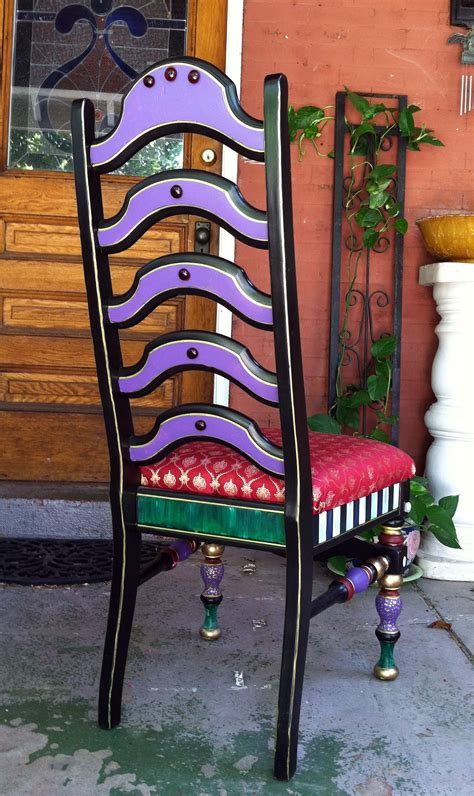 Mackenzie childs inspired chair make over on found alley chairs the year of living fabulously