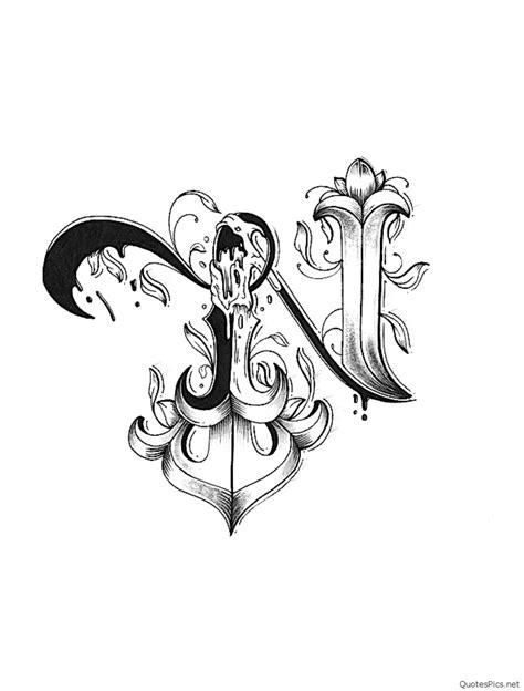 n tattoo designs 30 n letter images n letter logo n letter design n