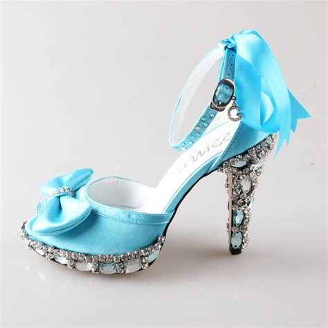 light blue high heel shoes handmade light sky baby blue d orsay peep open toe
