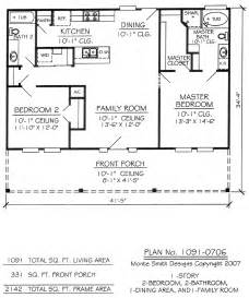 One Story Two Bedroom House Plans 2 Story House Design Plan