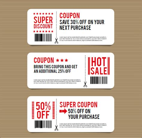 custom coupons free template sle coupon template 27 documents in psd vector