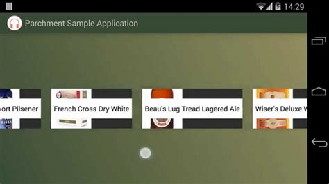 android grid layout horizontal scroll horizontal listview parchment android library youtube