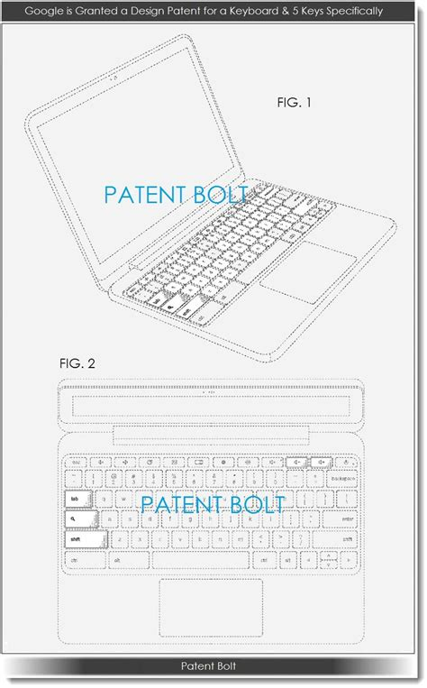 google design patent search google granted a keyboard design patent covering 5 buttons