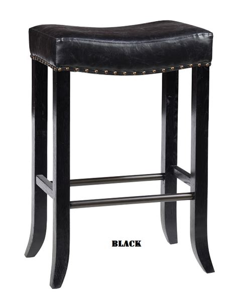 Rustic Backless Bar Stools by Classic Home Rustic Camille Backless Stool