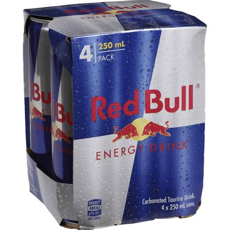 energy drinks and bull energy drink 4x250ml woolworths