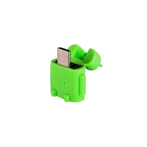 Otg Android Robot Usb On The Go For Smartphone Tab android robot micro usb host otg adapter smartystock