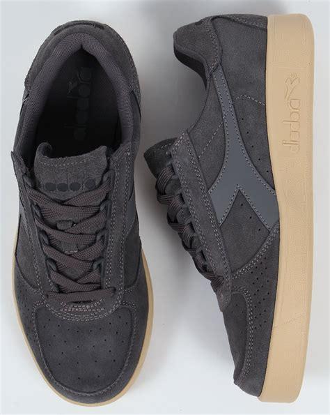 Original Diadora Dante Black Grey diadora b elite suede trainers steel grey borg shoes tennis mens