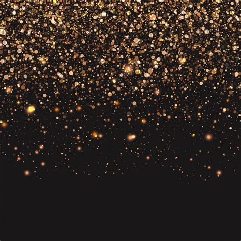 gold lights black background with golden lights vector free