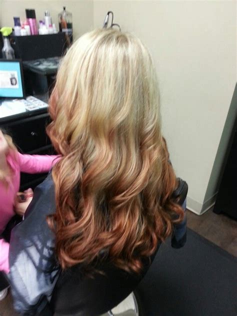 reverse ombre hair color for blonde hair reverse ombre blond to red cute hair for sarah