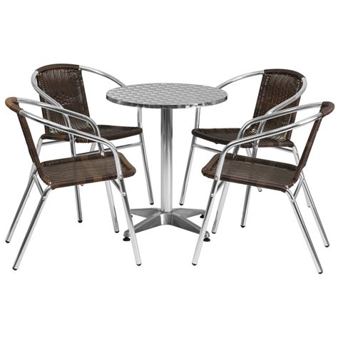 stainless steel outdoor table and chairs stainless outdoor table set 23 5 quot restaurant table