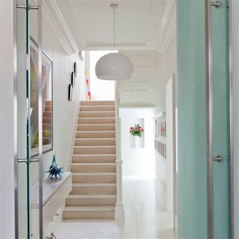 clean white hallway modern hallway housetohome co uk