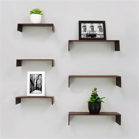 madison decorative wall ledge shelf set of 3 espresso nexxt madison set of 3 wall shelf 12 inch 16 inch