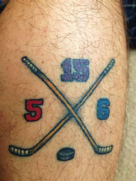 hockey tattoos hockey tattoos designs ideas and meaning tattoos for you