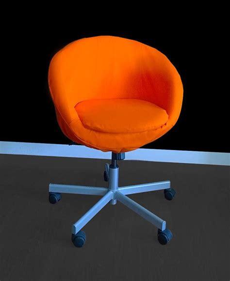 orange chair slipcover ikea skruvsta chair slipcover solid orange by