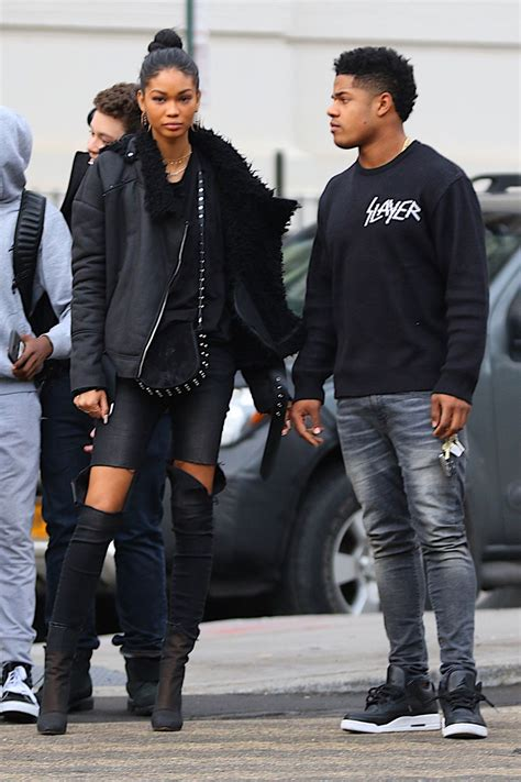 chanel iman married sterling shepard chanel iman and sterling shepard out in new york 01 12