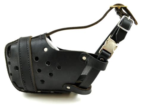 large muzzle leather agitation muzzle release large