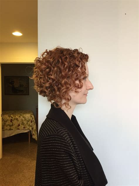 pin curls on a bob naturally curly bob haircut deva cut devachan done by