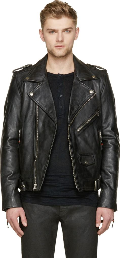 mens black leather motorcycle jacket leather motorcycle jackets jackets