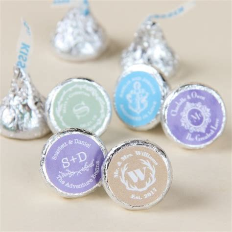 Wedding Favors Hershey Kisses by Personalized Hershey Chocolate Kisses Wedding Favors