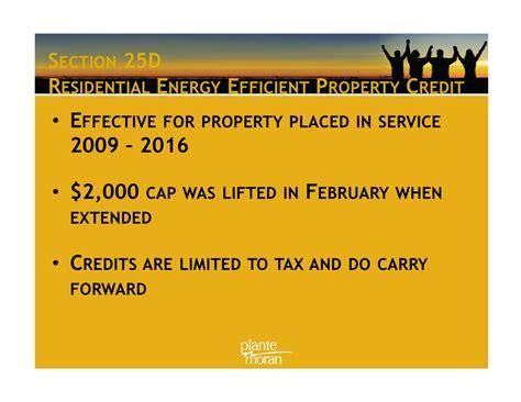 section 25d tax credit plante moran 2009 tax webinar presentation