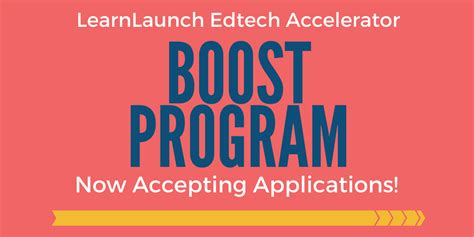 Applications For Programme Now Open by Applications Now Open For Accelerator Boost Program
