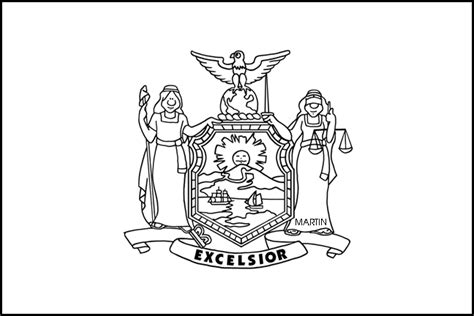 new york state flag coloring page az coloring pages