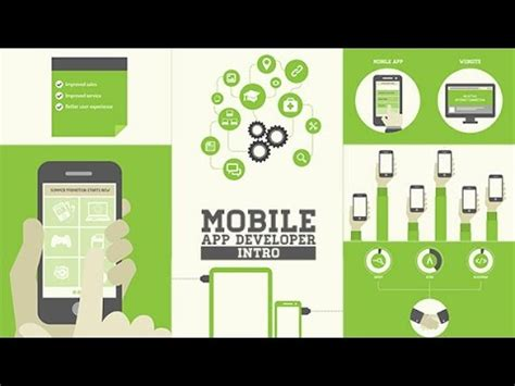 Mobile App Developer Intro Template After Effects Project Youtube App Introduction Template