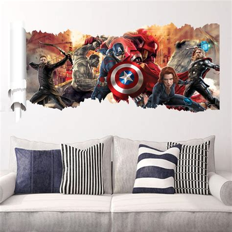 Marvel Home Decor by Marvel S The Wall Sticker Decals For Room