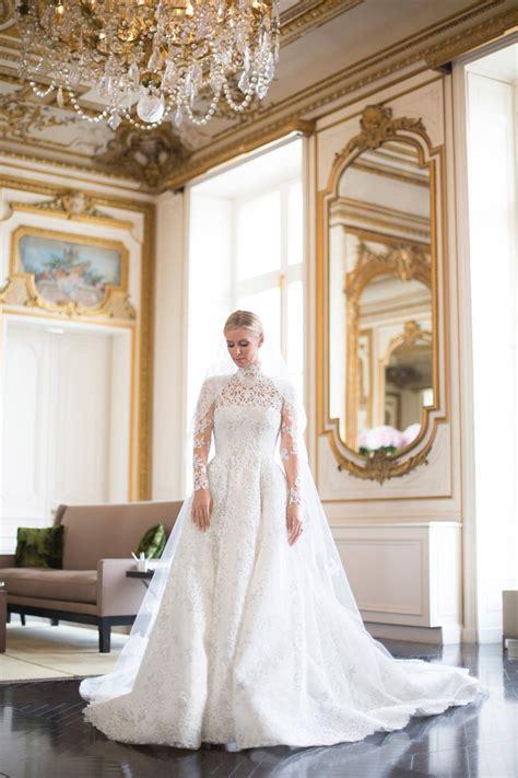 nicky hilton wedding dress nicky hilton marries in custom valentino wedding dress