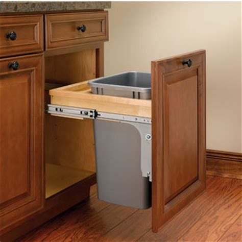 built in trash can cabinet page 8 pull out built in trash cans cabinet slide