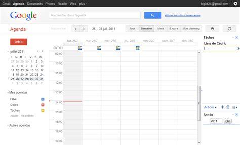 Calendrier Gmail Agenda C 233 Dric Vanconingsloo