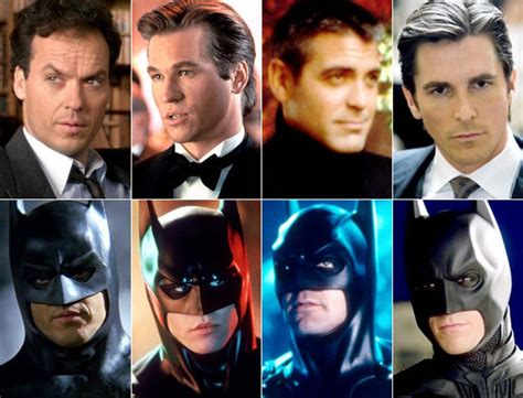recent actors who played batman celluloid superman compare and contrast