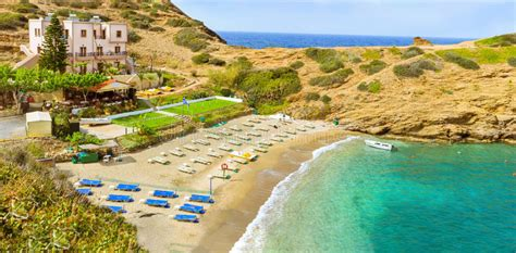 evita karavostasi beach  resort bali crete stock