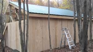 installing metal roof on pole barn pole barn framing purlins installing board baton