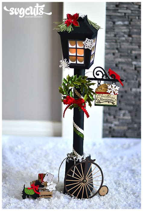 Battery Operated Decorative Lamps Christmas Lantern Street Lamp By Thienly Azim Svgcuts