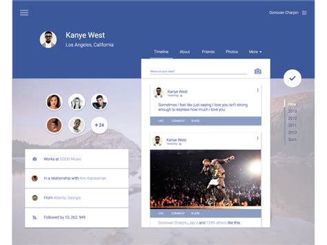 material design company profile facebook material design uplabs