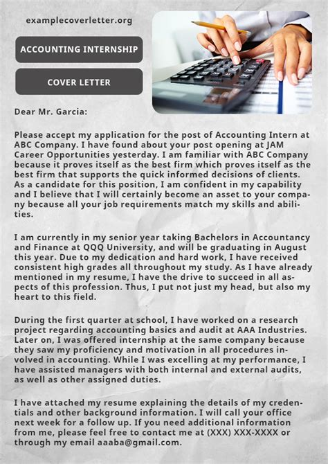 cover letter for accounting internship resume accounting cover letter sles free best clerk