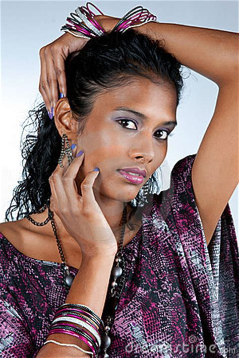 beautiful east indian woman royalty  stock photography image